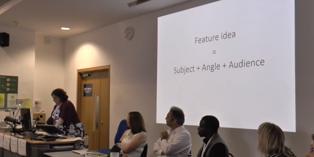 AJE Conference – Ellie Levenson on teaching students to find feature ideas